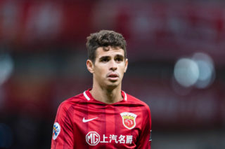 SHANGHAI, CHINA - APRIL 26: Oscar dos Santos Emboaba Junior of Shanghai SIPG FC reacts during the AFC Champions League 2017 Group F match between Shanghai SIPG FC (CHN) and FC Seoul (KOR) at the Shanghai Stadium on 26 April 2017 in Shanghai, China. (Photo by Power Sport Images/Getty Images)