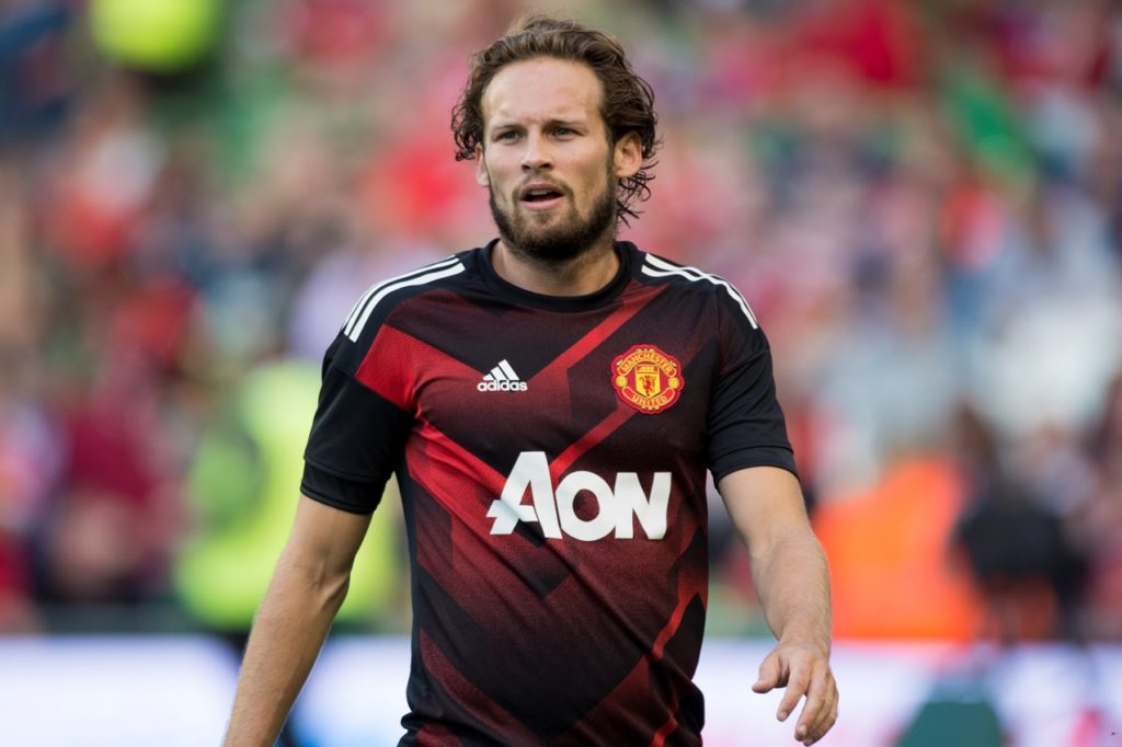 Daley Blind of Manchester Utd during the Pre-Season Friendly match between Manchester United and Sampdoria at Aviva Stadium in Dublin, Ireland on August 2, 2017 (Photo by Andrew Surma/NurPhoto)
