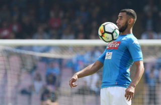 NAPLES, ITALY - OCTOBER 01:  Faouzi Ghoulam of SSC Napoli in action during the Serie A match between SSC Napoli and Cagliari Calcio at Stadio San Paolo on October 1, 2017 in Naples, Italy.  (Photo by Francesco Pecoraro/Getty Images)