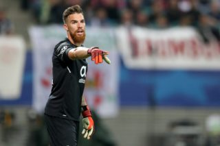 Porto's goalkeeper José Sá during the Champions League group stages qualification match between RB Leipzig and FC Porto in the Red Bull Arena in Leipzig, Germany, 17 October 2017. Photo: Jan Woitas/dpa-Zentralbild/dpa