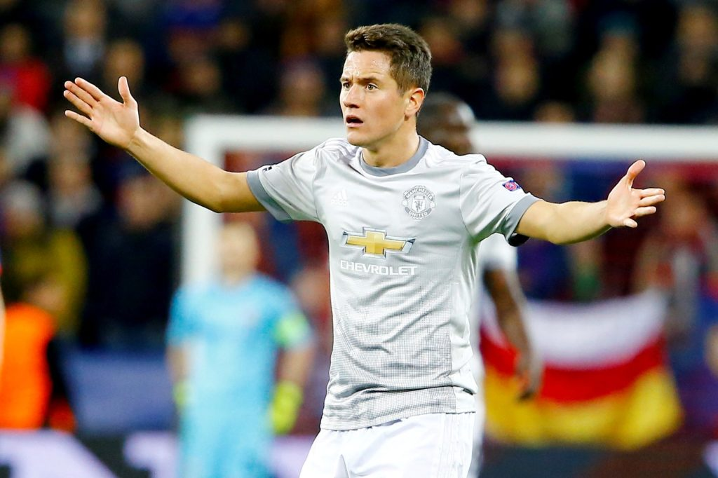 MOSCOW RUSSIA SEPTEMBER 27: Ander Herrera of Manchester United is seen during the UEFA Champions League match between CSKA Moscow and Manchester United at VEB Arena in Moscow, on September 27, 2017.         Sefa Karacan / Anadolu Agency