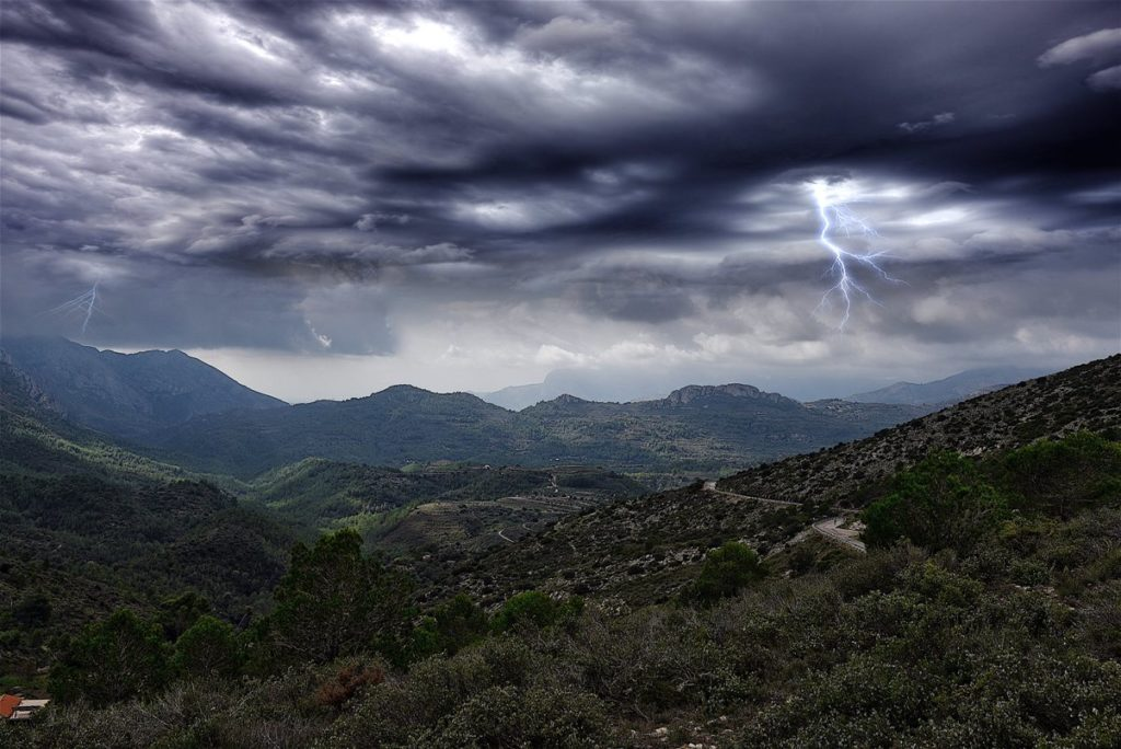 Storm in the mountain  | Orage en montagne 09/10/2017