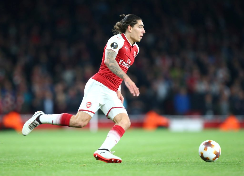 Arsenal's Hector Bellerin  during UEFA Europa League Group H match between Arsenal and 1.FC Koln at The Emirates , London 14 Sept 2017 (Photo by Kieran Galvin/NurPhoto)