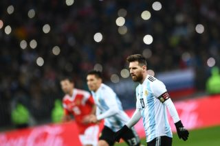 3232603 11/11/2017 Right: Lionel Messi (Argentina) during the football friendly match between the national teams of Russia and Argentina. Ramil Sitdikov/Sputnik