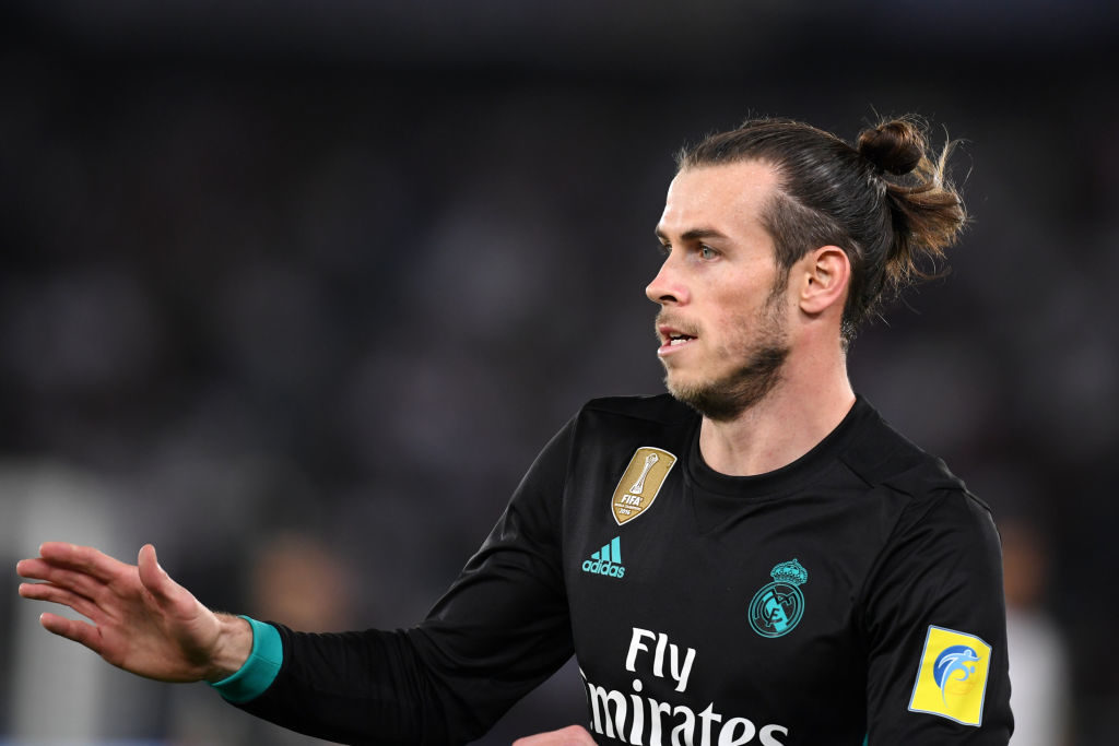 ABU DHABI, UNITED ARAB EMIRATES - DECEMBER 13:  Gareth Bale of Real Madrid in action during the FIFA Club World Cup UAE 2017 semi-final match between Al Jazira and Real Madrid  on December 13, 2017 in Abu Dhabi, United Arab Emirates.  (Photo by Etsuo Hara/Getty Images)