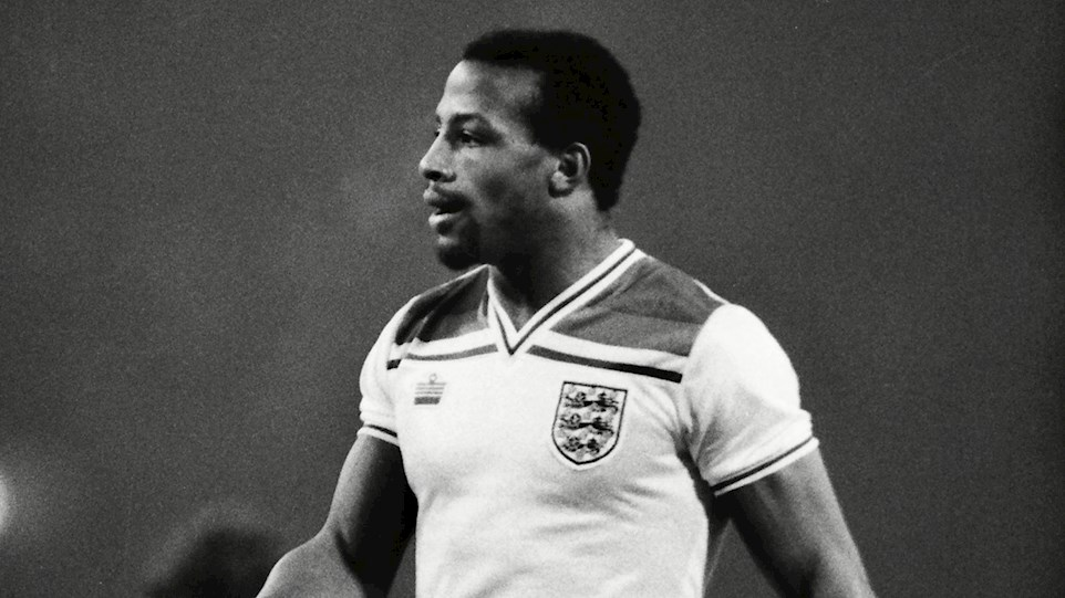 Mandatory Credit: Photo by Colorsport/REX/Shutterstock (3166869a) Football - 1982 British Home Championship - England 4 Northern Ireland 0 England's Cyrille Regis coming on as substitute at Wembley 23/02/1982 England 4 N Ireland 0 Sport