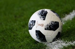Illustration picture shows the 'Adidas Telstar 18', the official match ball for the upcoming World Cup 2018 in Russia, during the Jupiler Pro League match between RSC Anderlecht and KV Kortrijk, in Brussels, Sunday 26 November 2017, on the sixteenth day of the Jupiler Pro League, the Belgian soccer championship season 2017-2018. BELGA PHOTO VIRGINIE LEFOUR
