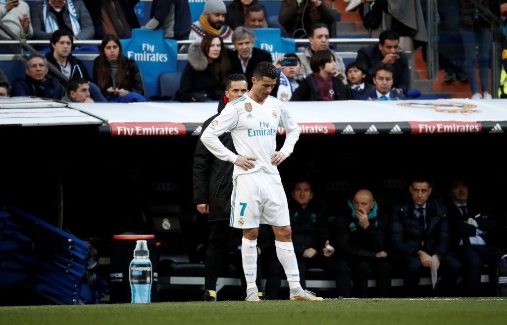 MADRID, SPAIN - DECEMBER 23: Cristiano Ronaldo of Real Madrid is seen during the La Liga match between Real Madrid and Barcelona at Santiago Bernabeu Stadium in Madrid, Spain on December 23, 2017. Burak Akbulut / Anadolu Agency