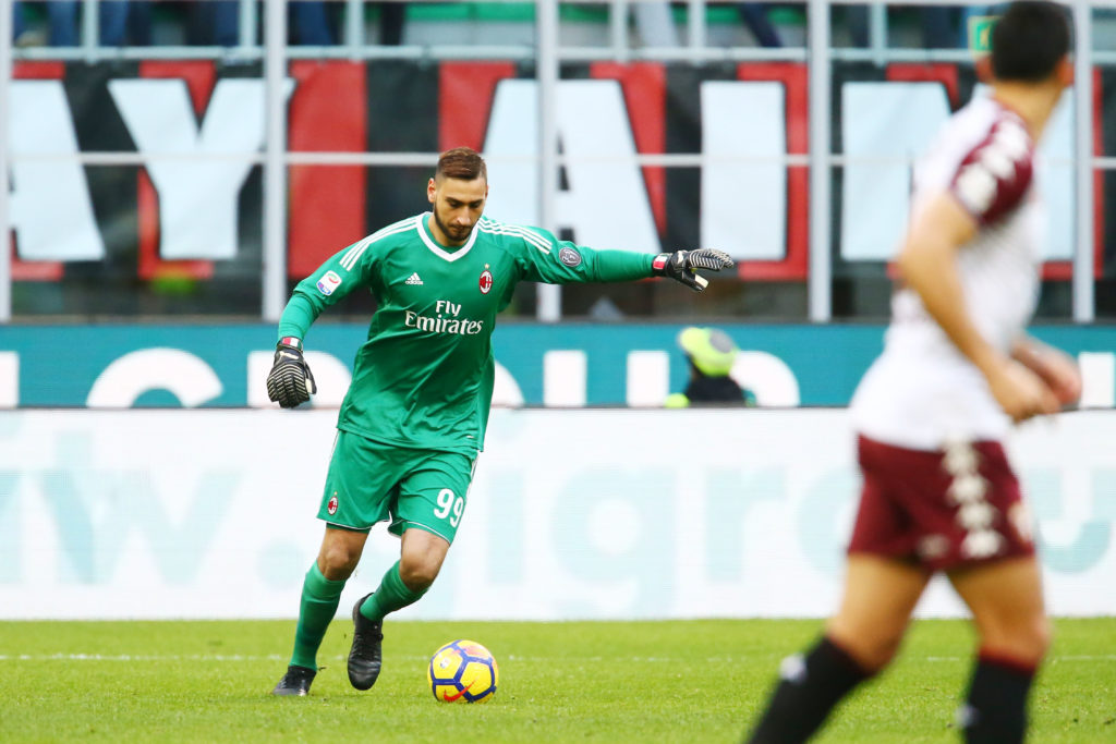 Gianluigi Donnarumma of Milan during the Italian championship Serie A football match between AC Milan and Torino FC on November 26, 2017 at Giuseppe Meazza in Milan, Italy - Photo Morgese - Rossini / DPPI