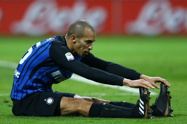 Joao Miranda of Internazionale  during the Serie A match between FC Internazionale and AS Roma at Stadio Giuseppe Meazza on January 21, 2018 in Milan, Italy.  (Photo by Matteo Ciambelli/NurPhoto)
