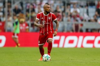 MUNICH, GERMANY - AUGUST 02: Arturo Erasmo Vidal of Bayern Muenchen controls the ball during the Audi Cup 2017 match between SSC Napoli and FC Bayern Muenchen at Allianz Arena on August 2, 2017 in Munich, Germany. (Photo by TF-Images/TF-Images via Getty Images)