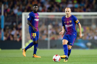 BARCELONA, SPAIN - AUGUST 13: Andres Iniesta of FC Barcelona during the Supercopa de Espana Final 1st Leg match between FC Barcelona and Real Madrid at Camp Nou on August 13, 2017 in Barcelona, Spain. (Photo by Marcio Rodrigo Machado/Power Sport Images/Getty Images,)