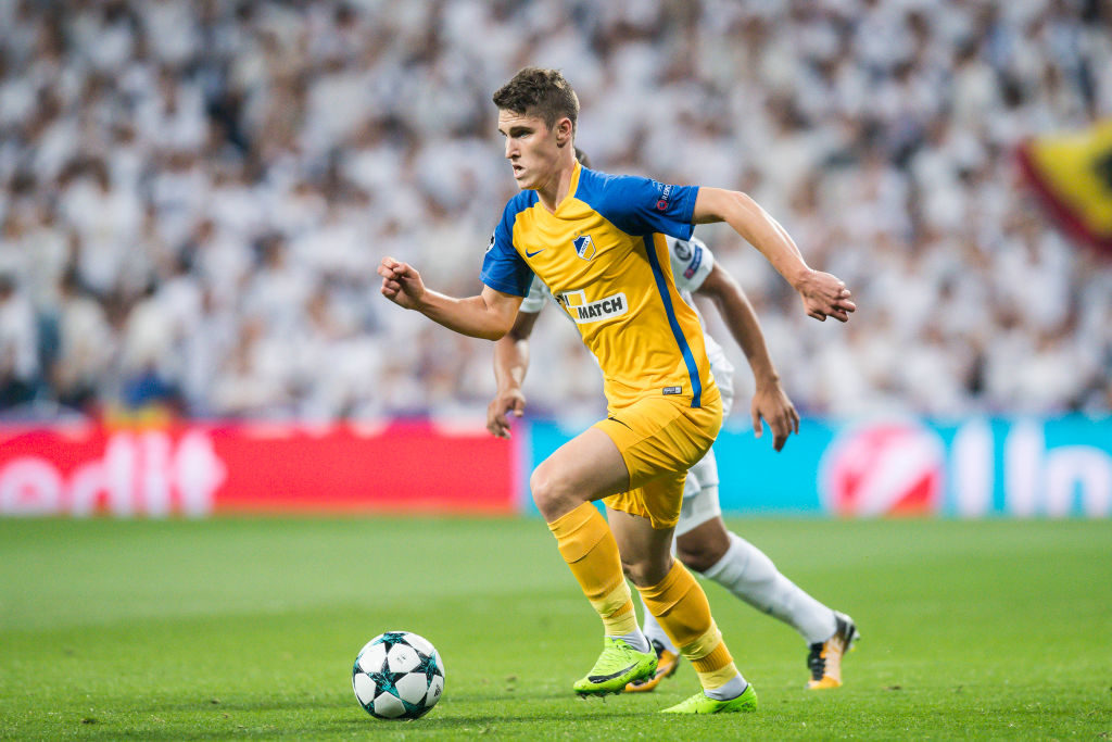 MADRID, SPAIN - SEPTEMBER 13: Roland Sallai of APOEL FC in action during the UEFA Champions League 2017-18 match between Real Madrid and APOEL FC at Estadio Santiago Bernabeu on 13 September 2017 in Madrid, Spain. (Photo by Power Sport Images/Getty Images)