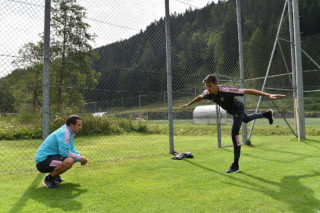 BAD KLEINKIRCHHEIM, AUSTRIA - JULY 28: Norbert Balogh of Palermo in action during a training session at US Citta' di Palermo pre-season training base at Sportplaz on July 28, 2016 in Bad Kleinkirchheim, Austria.  (Photo by Tullio M. Puglia/Getty Images)