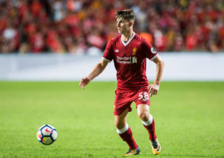 HONG KONG, HONG KONG - JULY 22: Liverpool FC forward Ben Woodburn in action during the Premier League Asia Trophy match between Liverpool FC and Leicester City FC at Hong Kong Stadium on July 22 2017, in Hong Kong, Hong Kong. (Photo by Victor Fraile/Getty Images)