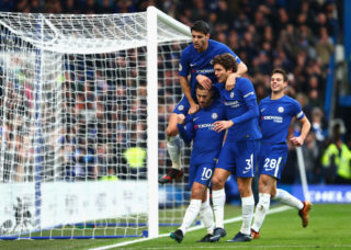 during the Premier League match between Chelsea and Newcastle United at Stamford Bridge on December 2, 2017 in London, England.