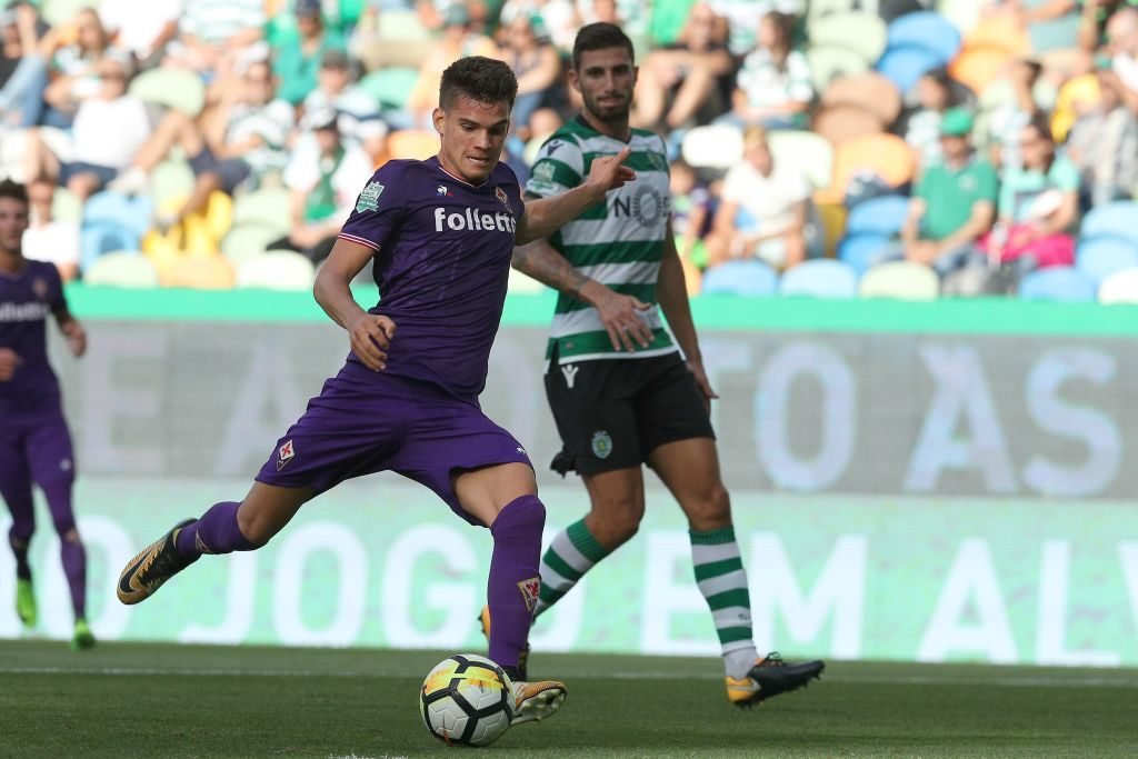LISBON, PORTUGAL - JULY 29: Fiorentina midfielder Ianis Hagi from Romenia during the Five Violins Trophy match between Sporting CP and AC Fiorentina at Estadio Jose Alvalade on July 29, 2017 in Lisbon, Portugal.  (Photo by Carlos Rodrigues/Getty Images)