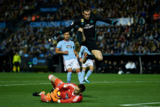 VIGO, SPAIN - JANUARY 07:  Ruben Blanco of Celta de Vigo catches the ball during the La Liga match between Celta de Vigo and Real Madrid at Estadio de Balaidos on January 7, 2018 in Vigo, Spain.  (Photo by fotopress/Getty Images)