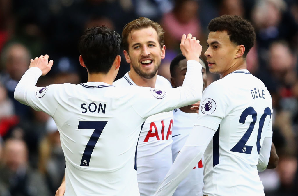 during the Premier League match between Tottenham Hotspur and Southampton at Wembley Stadium on December 26, 2017 in London, England.