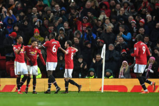 during the Premier League match between Manchester United and Stoke City at Old Trafford on January 15, 2018 in Manchester, England.