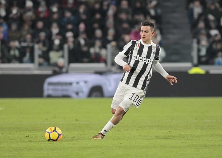 Paulo Dybala during Tim Cup 2017/2018 match between Juventus v Torino, in Turin, on January 3, 2018 (Photo by Loris Roselli/NurPhoto).
