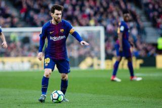 Lionel Messi of FC Barcelona during the Spanish championship Liga football match between FC Barcelona and Getafe on February 11, 2018 at Camp Nou stadium in Barcelona, Spain - Photo Xavi Bonilla / Spain DPPI / DPPI