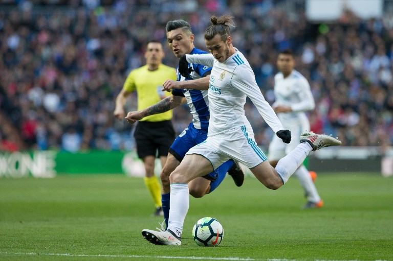 Real Madrid's Welsh forward Gareth Bale during the Spanish championship Liga football match between Real Madrid and Alaves on february 24, 2018 at Santiago Bernabeu Stadium in Madrid, Spain - Photo Rudy / Spain DPPI / DPPI