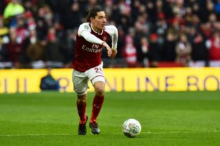 Hector Bellerin (24) of Arsenal during the English Cup, EFL Cup Final football match between Arsenal and Manchester City on February 25, 2018 at Wembley Stadium in London, England - Photo Graham Hunt / ProSportsImages / DPPI