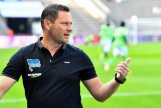 Berlin's coach Pal Dardai, photographed before the German Bundesliga soccer match between Hertha BSC and Werder Bremen at the Olympia stadium in Berlin, Germany, 10 September 2017.  (EMBARGO CONDITIONS - ATTENTION: Due to the accreditation guidlines, the DFL only permits the publication and utilisation of up to 15 pictures per match on the internet and in online media during the match.) Photo: Soeren Stache/dpa