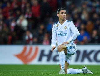 BILBAO, SPAIN - DECEMBER 02:  Cristiano Ronaldo of Real Madrid CF reacts during the La Liga match between Athletic Club and Real Madrid at Estadio de San Mames on December 2, 2017 in Bilbao, Spain.  (Photo by Juan Manuel Serrano Arce/Getty Images)