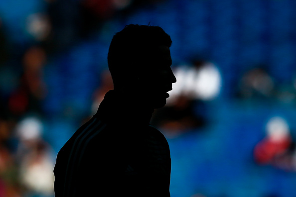 MADRID, SPAIN - JANUARY 21: Cristiano Ronaldo of Real Madrid CF in action during their warming-up session before the La Liga match between Real Madrid CF and Deportivo La Coruna at Estadio Santiago Bernabeu on January 21, 2018 in Madrid, Spain. (Photo by Gonzalo Arroyo Moreno/Getty Images)