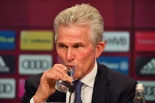 Jupp HEYNCKES (Trainer FC Bayern Munich), trinkt ein Glas Wasser, Einzelbild,angeschnittenes Einzelmotiv,Portraet,Portrait,Portrat. Offizielle Vorstellung Jupp HEYNCKES (Trainer FC Bayern Munich)  in der Allianz Arena. Fussball 1.Bundesliga,1.Liga ,am 09.10.2017. ©Sven Simon Fotoagentur GmbH & Co. Pressefoto KG # Prinzess-Luise-Str. 41 # 45479 M u e l h e i m /  R u h r # Tel. 0208/9413250 # Fax. 0208/9413260 # GLS Bank # BLZ 430 609 67 # Kto. 4030 025 100 # IBAN DE75 4306 0967 4030 0251 00 # BIC GENODEM1GLS # www.svensimon.net Training FC Bayern Munich, Trainingsgelaende an der Saebener Strasse, Fussball 1.Bundesliga,1.Liga ,am 12.07.2017. ÃâAo|usage worldwide