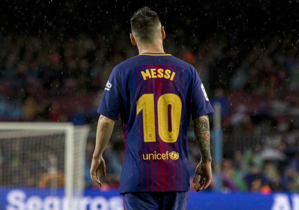 Leo Messi during the spanish league match between FC Barcelona and Sevilla CF at the Camp Nou Stadium in Barcelona, Catalonia, Spain (Photo by Miquel Llop/NurPhoto)