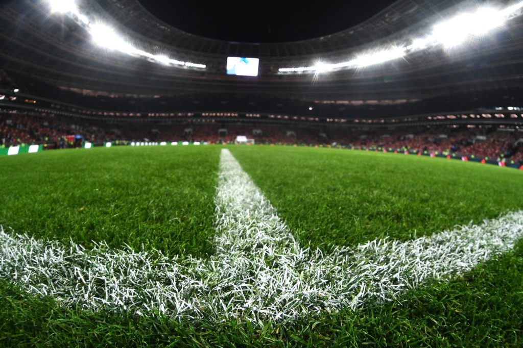 3232665 11/11/2017 A lawn on Luzhniki Stadium's field during the football friendly match between the national teams of Russia and Argentina. Ramil Sitdikov/Sputnik
