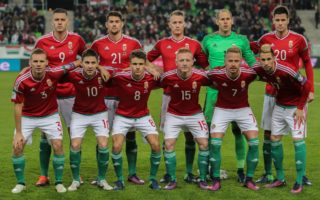 Team Hungary during the Hungary and Andora world cup qualification match at Groupama Arena on Nov 13, 2016 in Budapest, Hungary.  (Photo by FocusPressAgency/NurPhoto)