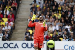 Steve Mandanda (Olympique de Marseille) during the French championship L1 football match between Nantes v Marseille, on August 12, 2017 at the Beaujoire stadium in Nantes, France - Photo Stephane Allaman / DPPI