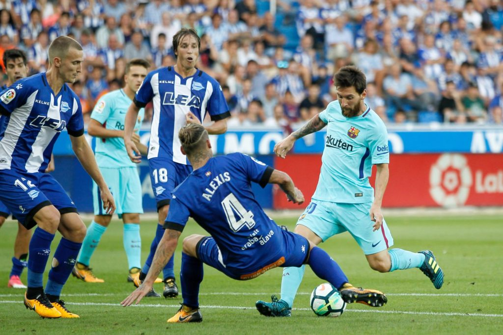 Lionel Messi of FC Barcelona during the Spanish championship Liga football match between Deportivo Alaves and FC Barcelona on August 26, 2017 at Mendizoroza Stadium in Vitoria, Spain - Photo Oscar J Barroso / Spain DPPI / DPPI