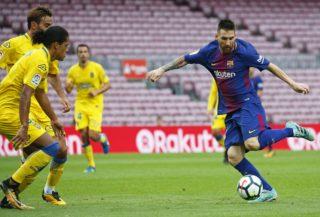 Leo Messi during La Liga match between FC Barcelona v UD Las Palmas that has been played behind closed doors, in Barcelona, on October 01, 2017. (Photo by Urbanandsport/NurPhoto)