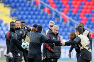 MOSCOW RUSSIA SEPTEMBER 26:  Head Coach Jose Mourinho of Manchester United is seen in a training session ahead of UEFA Champions League Group A match against CSKA Moscow at the VEB Arena CSKA in Moscow, on September 26, 2017.   Sefa Karacan / Anadolu Agency