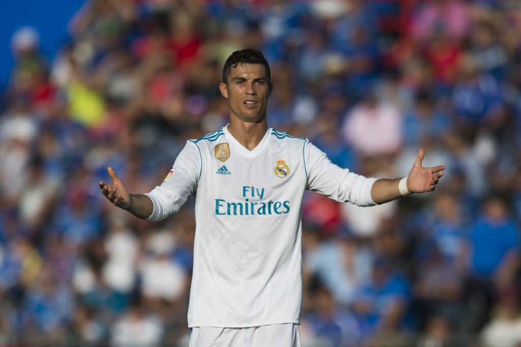 Cristiano Ronaldo during the match between Getafe CF vs. Real Madrid, week 8 of La Liga 2017/18 in Coliseum Alfonso Perez, Getafe Madrid. 14th of october 2017  (Photo by Jose Breton/NurPhoto)