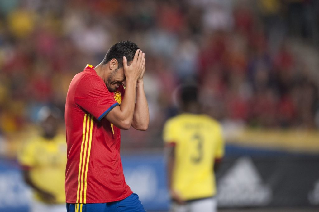 Pedro (Chelsea) during a friendly match between national team of Spain vs. Colombia in Nueva Condomina Stadium, Murcia, Spain.Wednesday, June 7, 2017. (Photo by Jose Breton/NurPhoto)