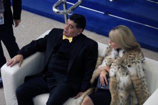 Photo during the Final-Draw for the 2018 FIFA World Cup Russia, in the city of Moscow.  Foto durante el Sorteo de la Copa Mundial de la FIFA Rusia 2018, en la ciudad de Moscu, en la foto: Diego Armando Maradona y esposa Rocio Oliva   01/12/2017/MEXSPORT/Eric Alonso.