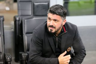 AC Milan head coach Gennaro Gattuso during the Italian championship Serie A football match between AC Milan and Bologna FC on December 10, 2017 at Giuseppe Meazza stadium in Milan, Italy - Photo Morgese - Rossini / DPPI