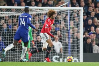 Manchester United Midfielder Marouane Fellaini during the English championship Premier League football match between Chelsea and Manchester United on November 5, 2017 at Stamford Bridge in London, England - Photo Phil Duncan / ProSportsImages / DPPI
