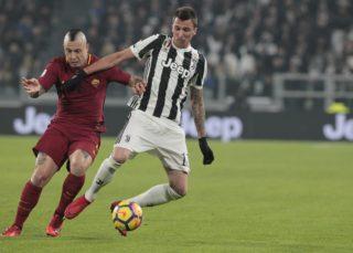 Mario Mandzukic during Serie A match between Juventus v Roma, in Turin, on December 23, 2017 (Photo by Loris Roselli/NurPhoto).