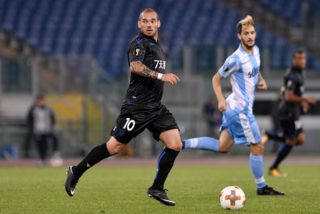 Wesley Sneijder of Nice during the UEFA Europa League match between Lazio and Nice at Stadio Olimpico, Rome, Italy on 2 November 2017.  (Photo by Giuseppe Maffia/NurPhoto)