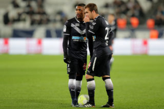 BORDEAUX, FRANCE - DECEMBER 21:  Malcom  and Valentin Vada of Bordeaux look on during the Ligue 1 match between FC Girondins de Bordeaux and Montpellier Herault SC at Stade Matmut Atlantique on December 21, 2017 in Bordeaux, .  (Photo by Romain Perrocheau/Getty Images)