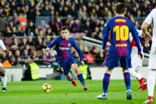Philippe Coutinho of FC Barcelona during the Spanish championship Liga football match between FC Batcelona and Deportivo Alaves on January 28, 2018 at Camp Nou stadium in Barcelona, Spain - Photo Xavi Bonilla / Spain DPPI / DPPI
