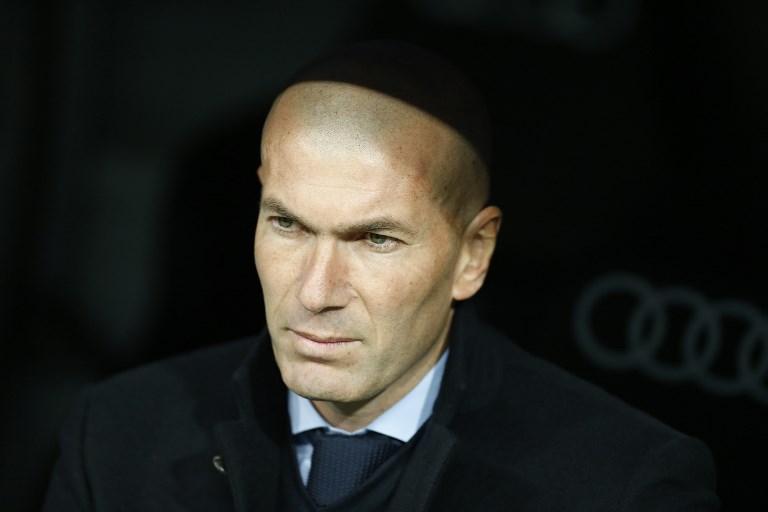 Zinedine Zidane during the Spanish championship Liga football match between Real Madrid and Real Sociedad on February 10, 2018 at Santiago Bernabeu stadium in Madrid, Spain - Photo Benjamin Cremel / DPPI