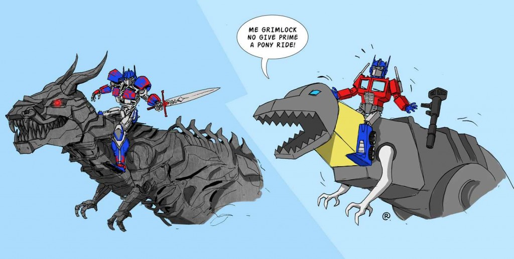 transformers_4___optimus_prime_riding_grimlock_by_rawlsy-d752he3